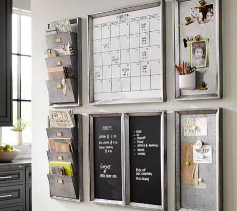 cute metallic wall organizer