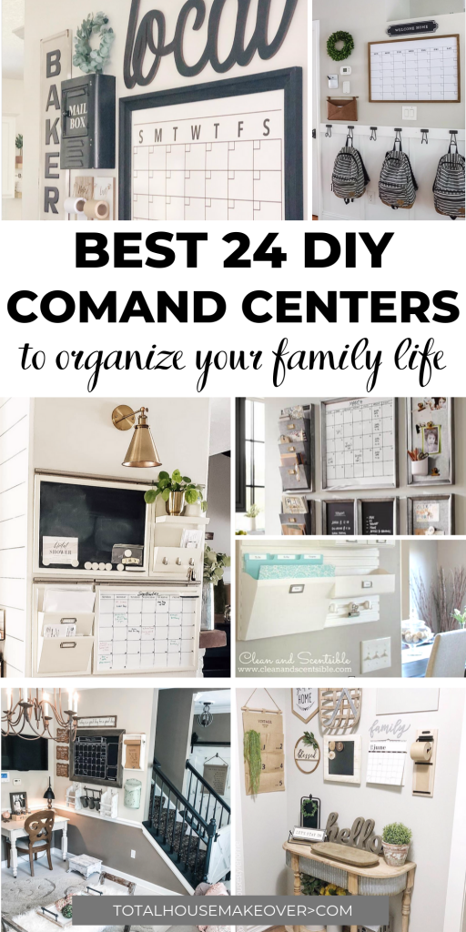 Every Command Center is not created equal. These are the best command center ideas that is functional and cute. There is nothing like organization in style. Click through for the clever family command centers. Organization| Home Decor, Command Center Idea,
