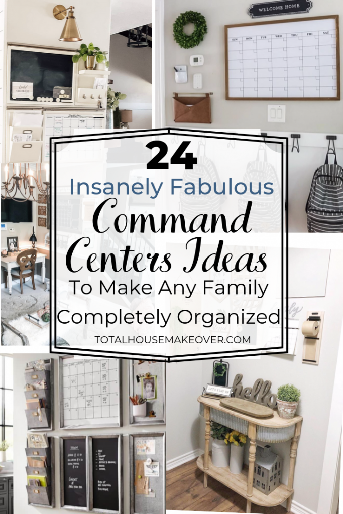 Are you tired of trying to find things as your on the way out the door? Yes I was too! Now these command center ideas offers the best solutions to keep your family organized. And save your sanity! Organization| Home Decor | command center ideas, organization for the home, family command center