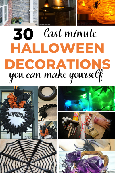 Are you a last minute decorator? You feel like its not enough time to create a spooky home for halloween? Well your wrong! Here are the best last minute halloween decorations that you can create from picking a few things up from the dollar store. And it's easy to recreate.