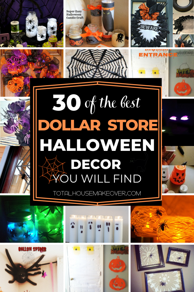 Are you looking to give your home a creepy & spooky feeling without breaking the bank? Check out these dollar store halloween ideas specifically the ones you may never thought of but easy to recreate. From halloween centerpieces, DIY wreaths, wall decor these ideas can be used everywhere in your home.