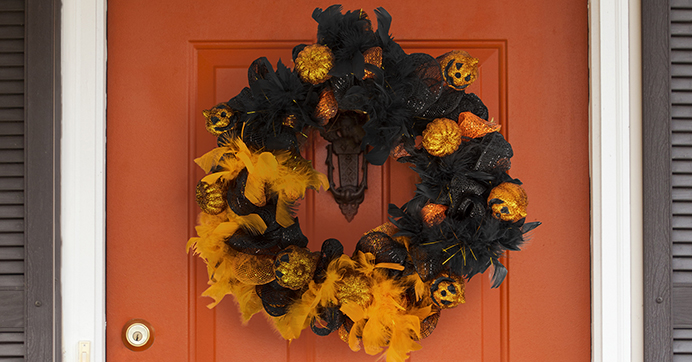 orange an black wreath