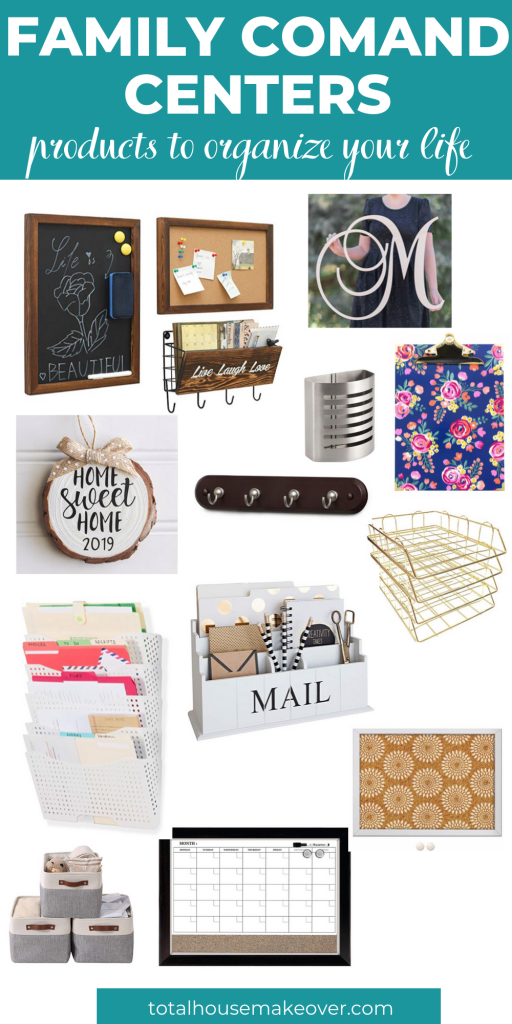 Essential Products to organize your home. These are must have for a functional yet beautiful family command center. Organization for the home| Family Command Center, gift guide for her, home decor for organization