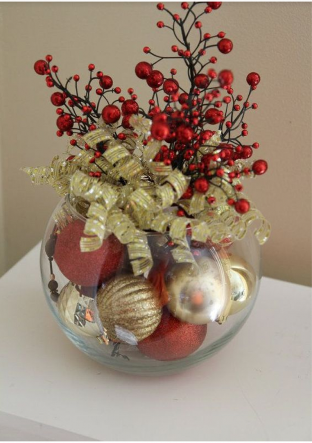 Christmas ball centerpiece