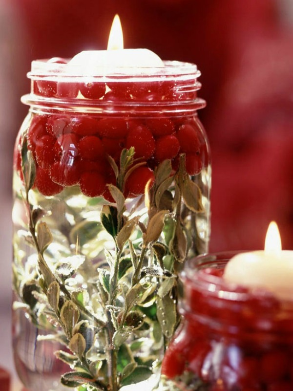 cherry and candle