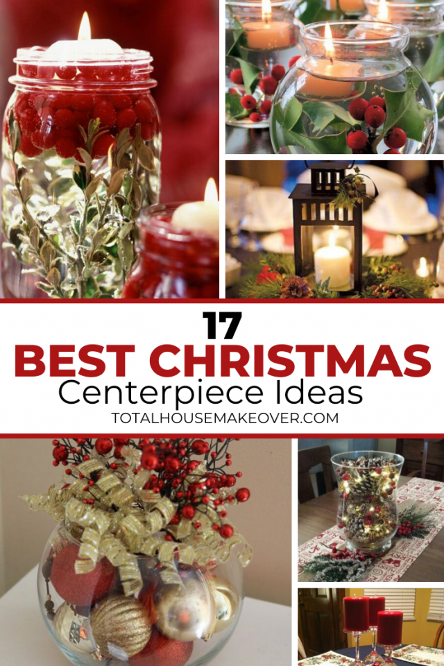 Looking to add beautiful decoration to your table for christmas? The problem is you don't have the time. Here are 17 quick and easy holiday centerpiece ideas that you can throw up at the last minute. Christmas Decor| Holiday Decor| Centerpieces