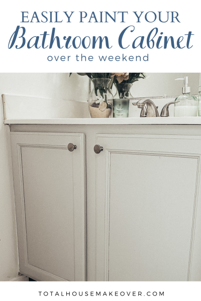 Learn how to paint your bathroom vanity quickly without looking like a beginner. paint bathroom cabinet, remodel bathroom, bathroom on a budget