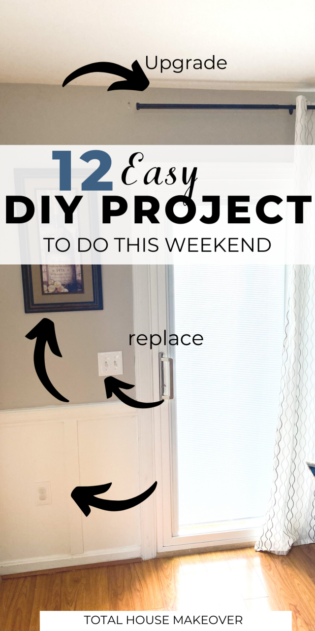Don't know what projects you should start around the home? Here are 12 Home DIY Projects to Keep You Busy. Home Improvement, weekend diy home projects, diy home projects easy remodeling ideas