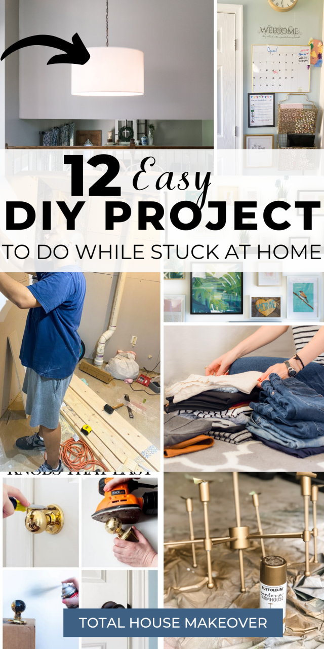 Don't know what projects you should start around the home? Here are 12 Home DIY Projects to Keep You Busy. Home Improvements, weekend diy home projects, diy home projects easy remodeling ideas, diy home projects easy remodeling ideas