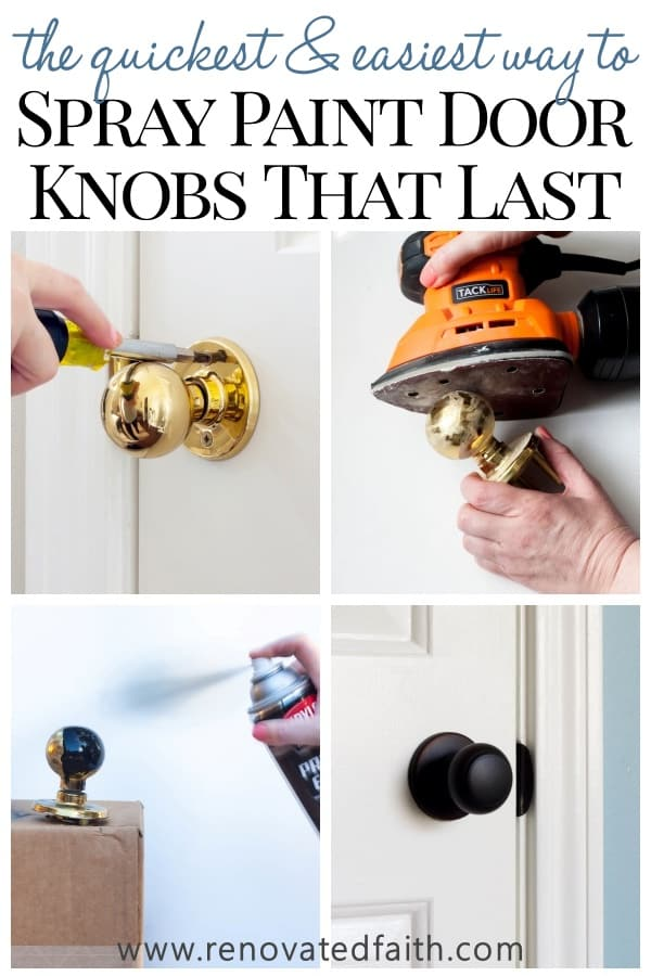 spray paint for doorknobs for a home diy project