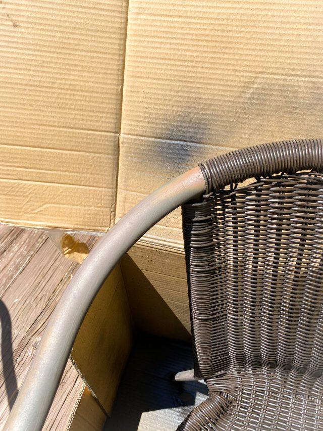 Spray paint outdoor metal furniture